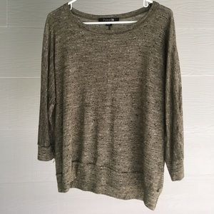 Forever 21 olive loose knit sweater